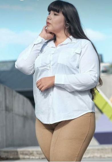 Camisa Mujer Talles Especial Lisa De Poplin 7xl 9xl 11xl