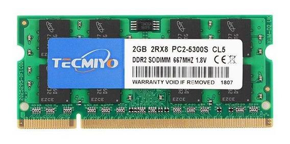 Memoria Ram 2gb Ddr2 667mhz Pc2-5300 Sodimm Tecmiyo
