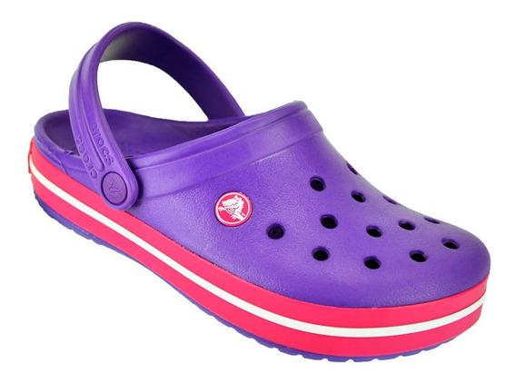 Crocs Originales Sueco Crocband Sandalia Promo Violeta