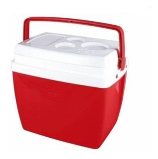 Caixa Térmica 26 Litros Cooler Mor Com Alça - Vermelha
