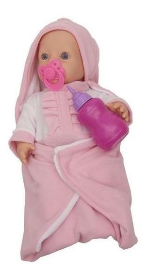 Boneca Mantinha 1017 Miketa Brinquedos- Rosa