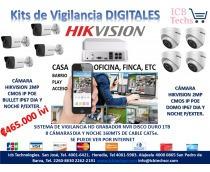 Sistema Vigilancia Nvr Hikvision 8 Cámaras Digitales 1tb 1