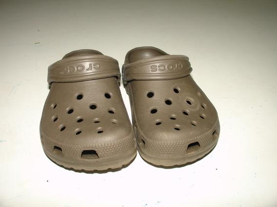 Sapato Crocs Marrom Escu Tamanho 8 9 Emborrachado Tamanho 23