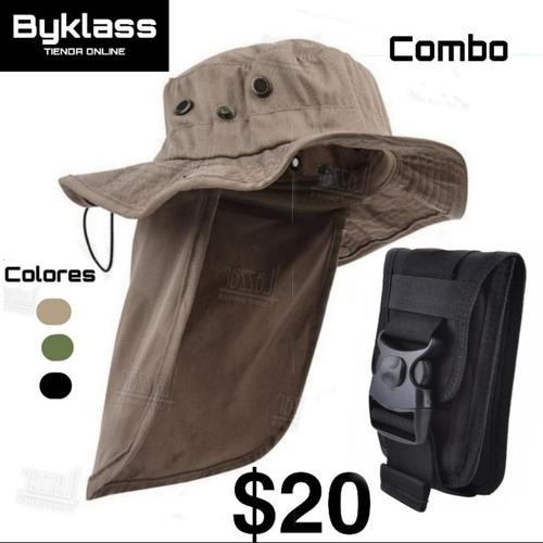 Sombrero Con Protector De Cuello Mas Bolsito Multiusos