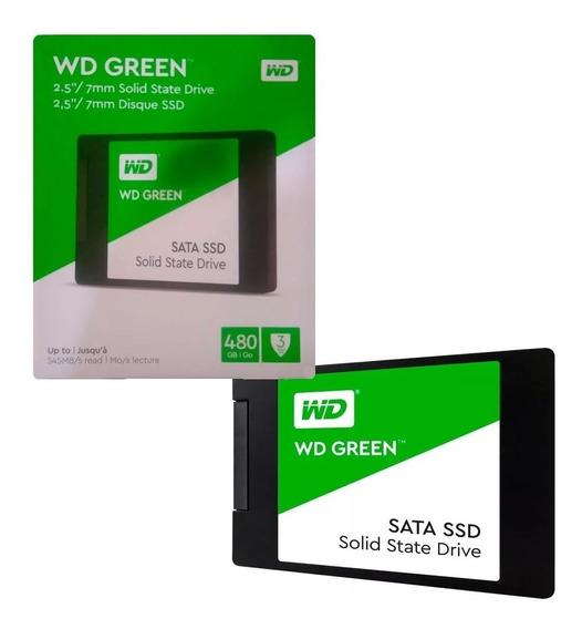 Ssd Wd Green 480gb 2,5 7mm Sata 3