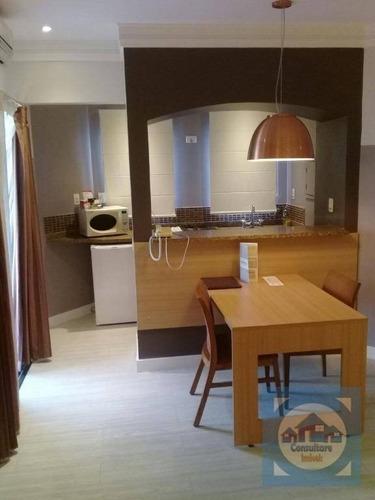 Flat Com 1 Dormitório À Venda, 50 M² Por R$ 320.000,00 - Gonzaga - Santos/sp - Fl0060