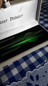 Caneta Laser Pointer Verde Green 4 Pontas Efeitos Estojo