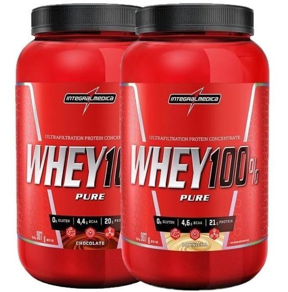 2x Whey 100% Pure 907g - Sabores - Integralmedica