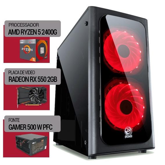 Pc Ryzen 5 2400g+am4 A320m + Hd 500gb Rx550 2gb + 8gb Ddr4