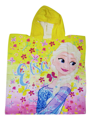 Imagen 1 de 4 de Bata Poncho De Velour - Disney Frozen