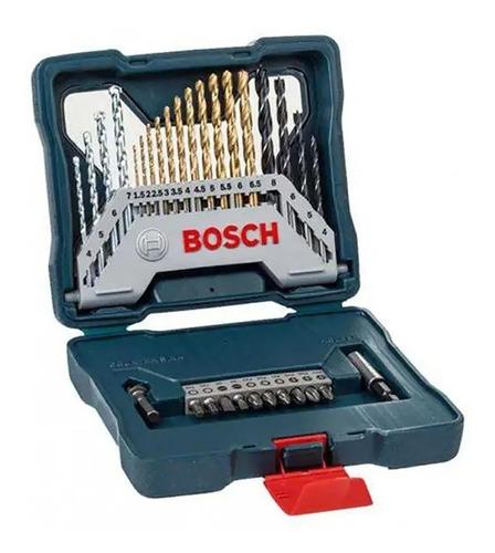 Juego Set Kit Mechas Titanio Y Puntas Dest Bosch 30 Piezas