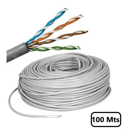 Bobina Utp Cable De Red Cate5 100 Mts Linkedpro Color Gris