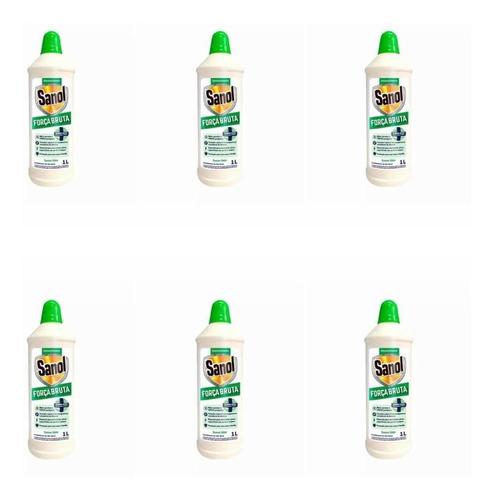 Sanol Força Bruta Odor Suave Desinfetante 1l (kit C/06)