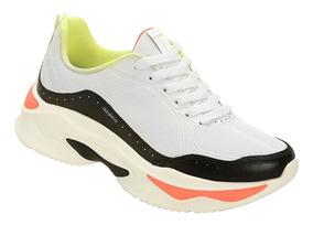 Tênis Azaleia Chunky Sneaker Feminino - Preto E Limao
