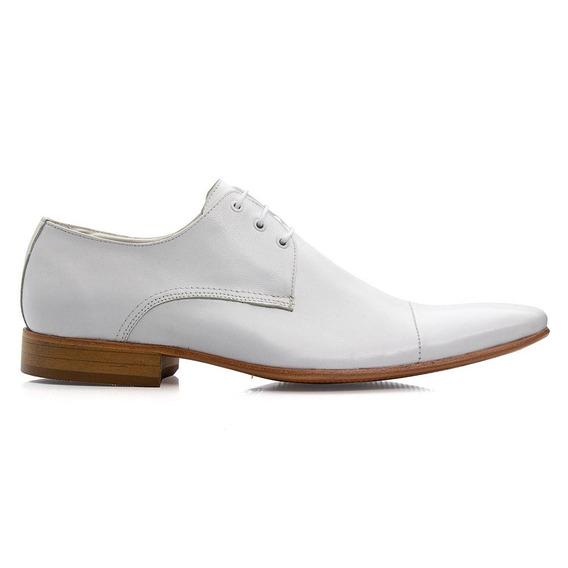 Sapato Social Masculino Couro Cadarço Leve Macio Dia A Dia