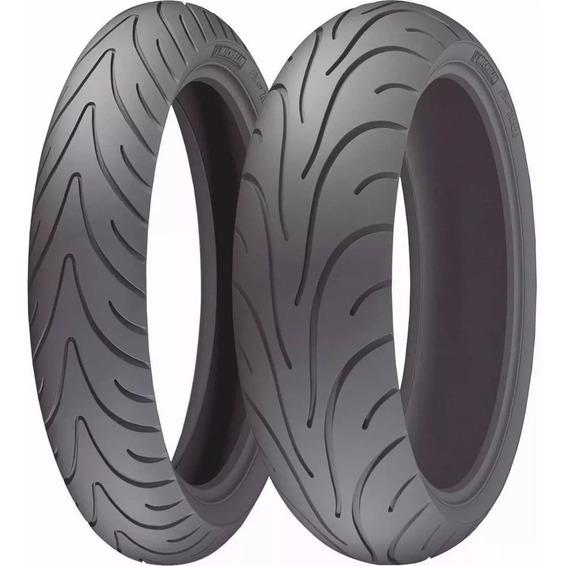 Par Pneu Para Fazer600 Michelin Road2 180/55zr17 E 120/70zr1