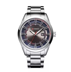 Relógio Masculino Curren Analógico 8246 Prata Cinza