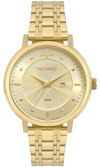 Relogio Feminino Technos Dourado Fashion 2015ccs4x