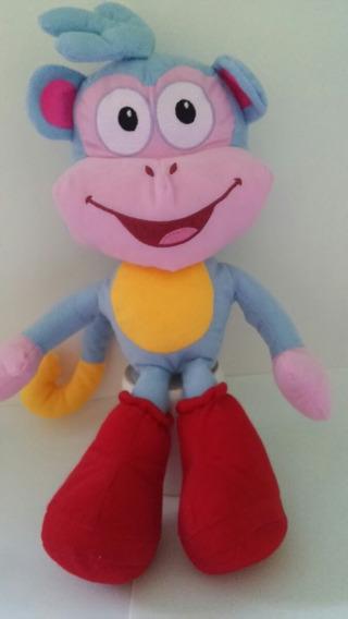 Boneco Pelúcia Macaco Botas Da Dora Aventureira 40cm + Balão