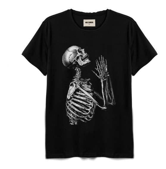 Playera Skeleton Marca Mecánico Jeans