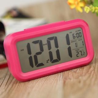 Reloj Digital Lcd Con Luz, Fecha Temperatura
