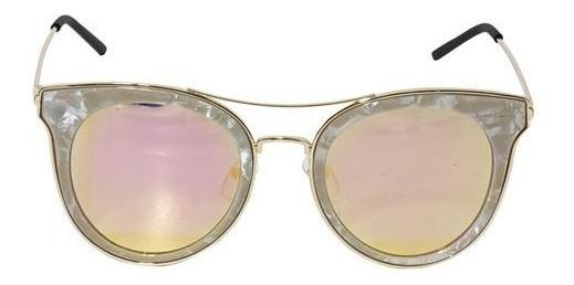 Óculos De Sol Feminino Perolado Rose