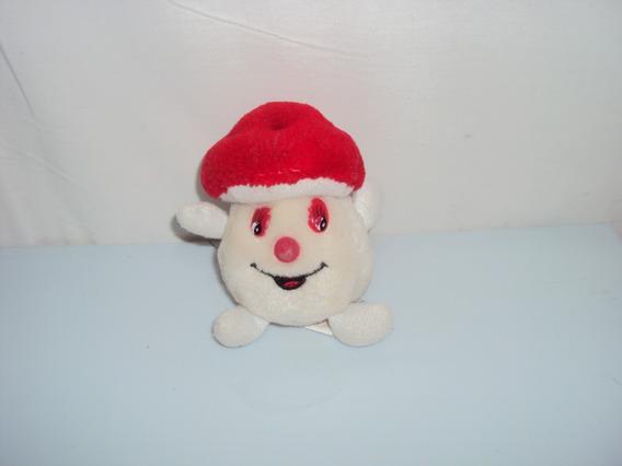 Pelucia Miniatura Cogumelo Branco Etti Antigo Tamanho 12cm