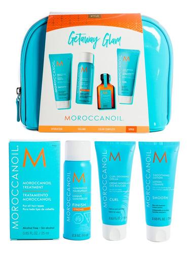 Imagen 1 de 7 de Moroccanoil Kit Travel Style Para Modelado Peinado Cabello