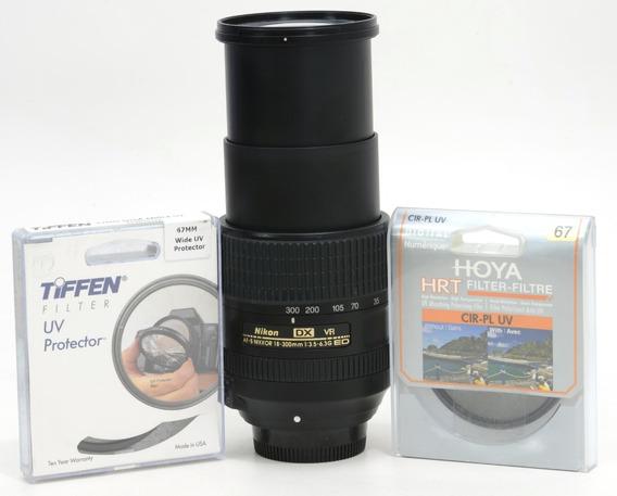 Objetiva Nikon 18-300mm Af-s G Ed Vr Nota 10 + 2 Filtros