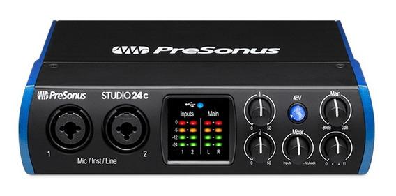 Interface De Áudio Presonus Studio 24c Usb 2.0 3.0 E Midi