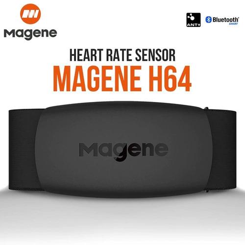 Imagen 1 de 10 de Banda Monitor Ritmo Cardiaco Bluetooth Ant+ Magene H64