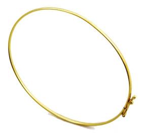 Pulseira Bracelete Em Ouro 18k Liso