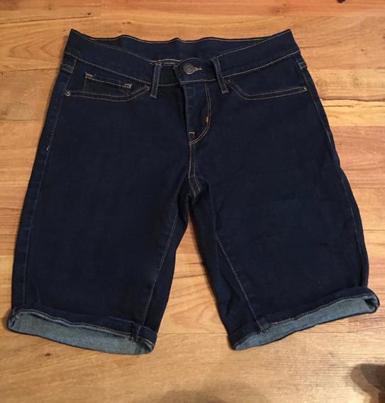 Padrisimo Pantalon Levis Bermuda Mezclilla 25 Original!!