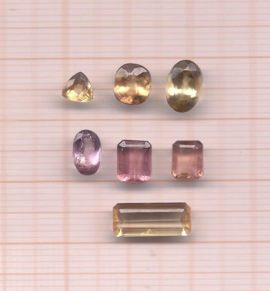 Topázios Imperiais Oval Naturais Perfeito 8 Cts 07 Pedras