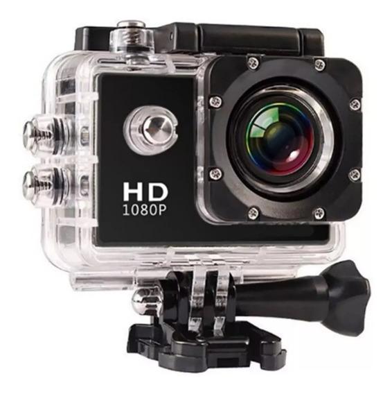 Câmera Filmadora Em Ação Com Capacete Esporte E Mergulho