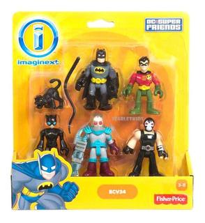 Imaginext Figuras X5 Batman Dc Fisher Price Super Friends