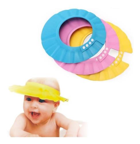 Gorro Visera De Ducha Baño Para Baño Bebé Niño Protege Ojos
