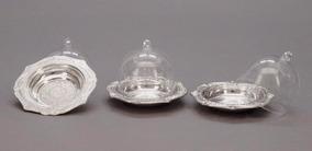 12 Mini Cupula Acrilica Para Mini Bolo Redonda Prata
