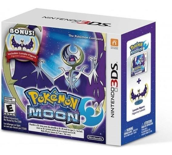 Pokemon Moon + Bonus Lunala Figure 3ds Lacrado