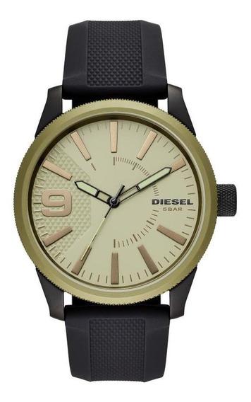 Relógio Masculino Diesel Dz1875/8pi 46mm Silicone Preto