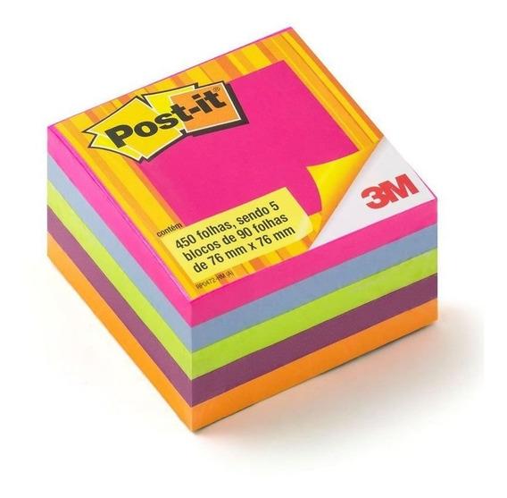 Post-it Cubo 654 76mmx76mm Cores Tropicais 3m 23206