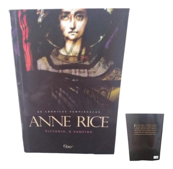 Crônica Sobre Vampiros Anne Rice + Brinde Marcador Página