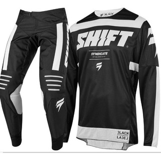 Traje Motocros Bicicross Mx Marca Shift Conjunto Jersey Pant