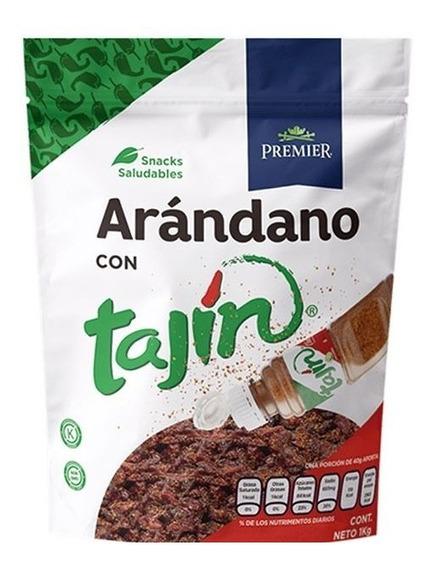 Arándano Enchilado Con Tajin 1kg Premier Snacks Saludable