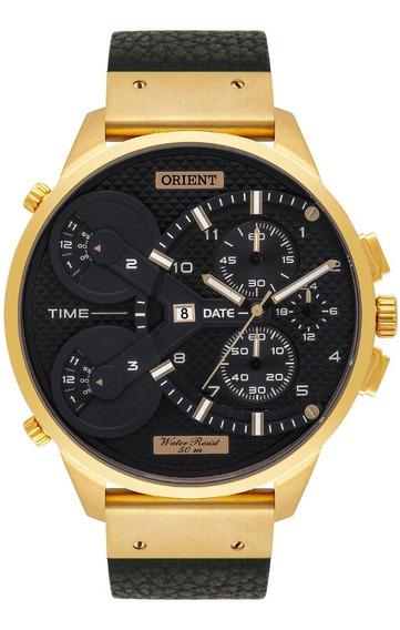 Relogio Orient Masculino Cronógrafo Mgsct002 P2px Dourado