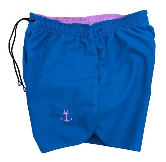 Traje De Baño Azul Rosa Corto Para Hombre John Leopard Envio