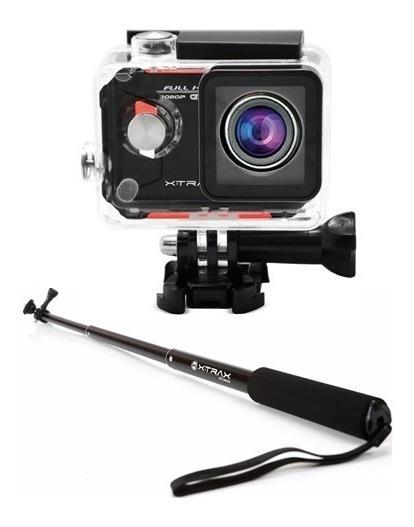 Kit Câmera De Ação Evo Full Hd 12mp + Bastão Retrátil