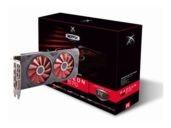Placa de video AMD XFX Radeon RX 500 Series RX 570 RX-570P8DFD6 XXX Edition 8GB