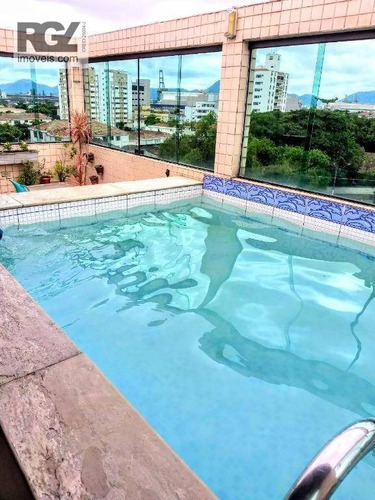 Imagem 1 de 29 de Cobertura Com 4 Dormitórios À Venda, 250 M² Por R$ 845.000,00 - Aparecida - Santos/sp - Co0260