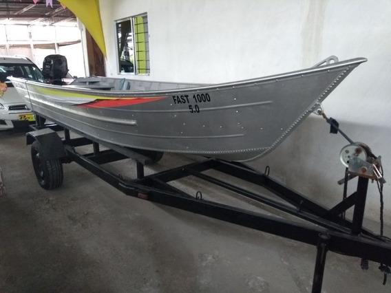 Barco Muito Novo Motor De Dois Tempos Aceito Troca